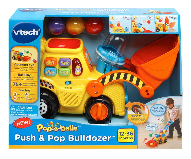 Vtech - Pop-a-Balls Push & Pop Bulldozer - English Edition