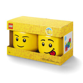 LEGO Storage Head (Large) Boy and Silly