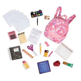 Our Generation, Off To School, School Bag with Accessories for 18-inch Dolls