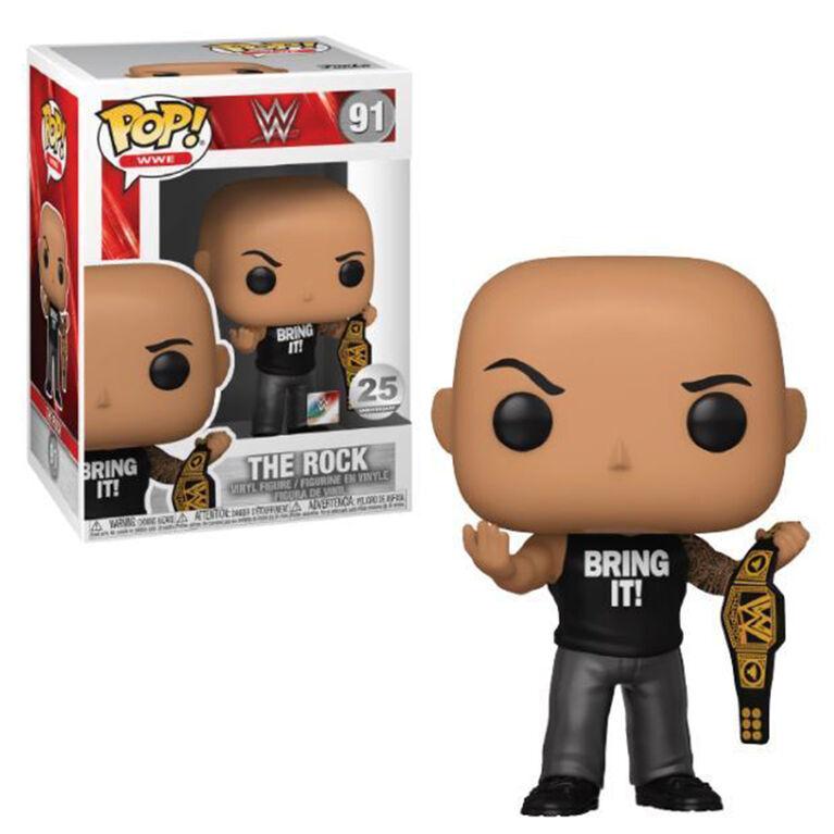 Figurine en Vinyle The Rock par Funko POP! - Notre exclusivité