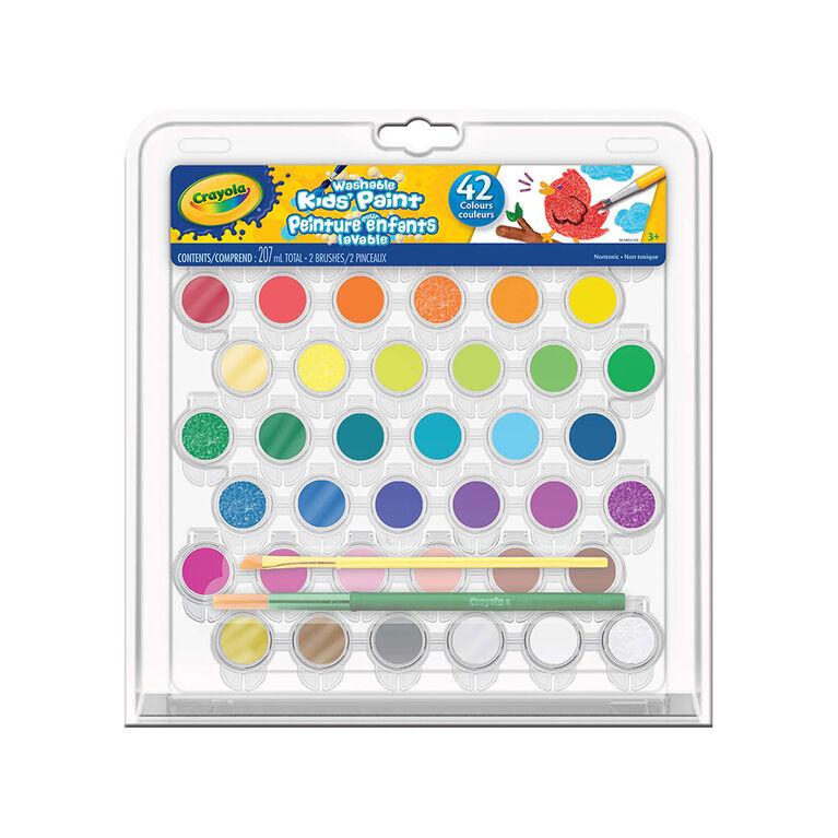 Crayola - Washable Kids' Paint Set, 42 ct