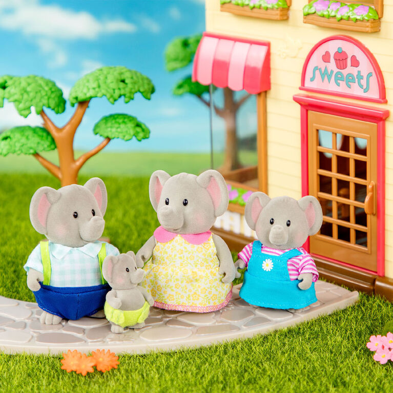 Oliphant Éléphants, Li'l Woodzeez, Ensemble de petites figurines d'éléphants