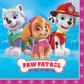 Paw Patrol Pink Luncheon Napkins, 16 pieces