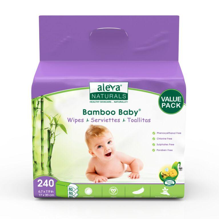 Aleva Naturals Bamboo Wipes - 240 Count