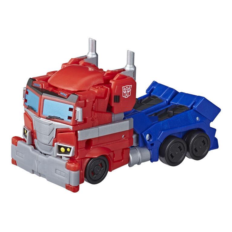 Transformers, figurine Optimus Prime Cyberverse de classe Deluxe
