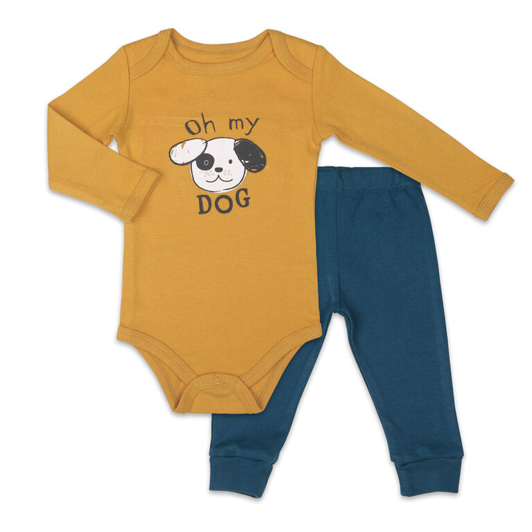 Koala Baby Bodysuit and Pants Set, Oh My Dog - 3-6 Months