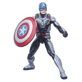 Série Marvel Legends Avengers : Phase finale - Figurine de collection Captain America de 15 cm.