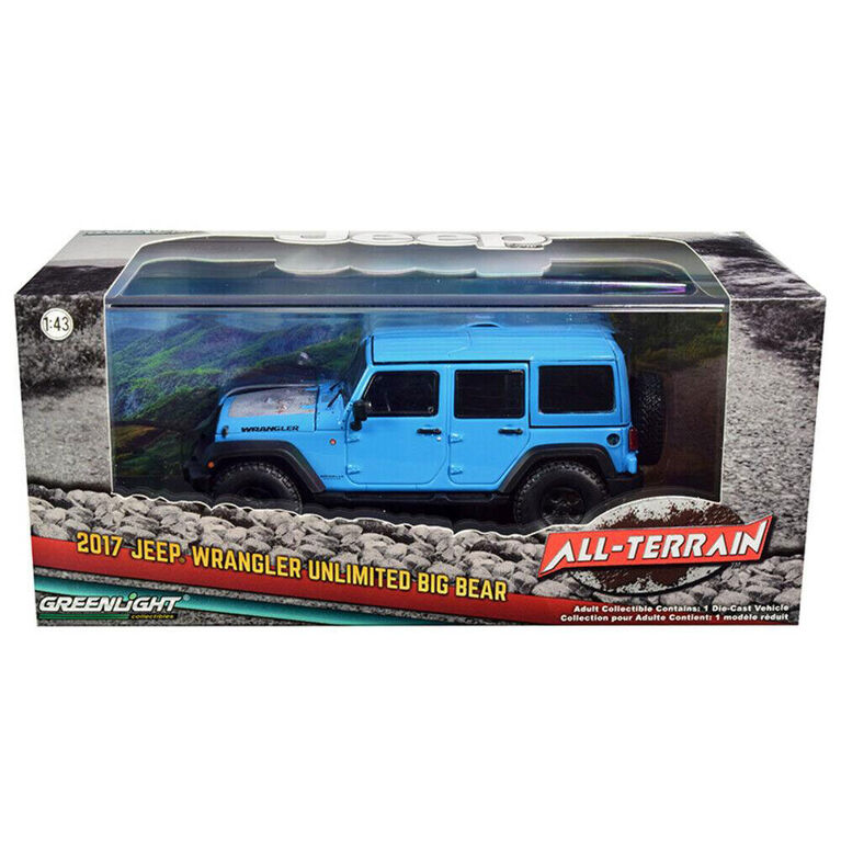 Greenlight - 1:43 2017 Jeep Wrangler Unlimited - Assortment May Vary - One Jeep Per Purchase