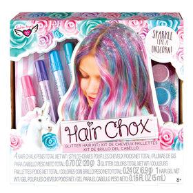 Fashion Angels - Ens. de craies pour cheveux Licorne magique.