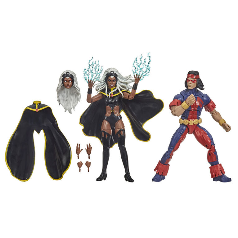 Hasbro Marvel X-Men Series 6-inch Collectible Storm and Marvel's Thunderbird Action Figure Toys - R Exclusive