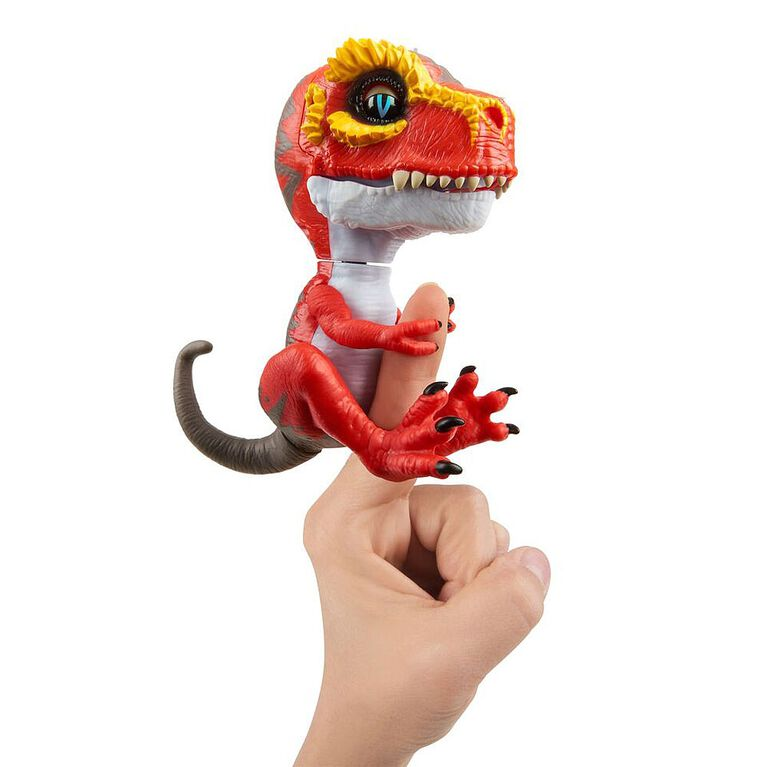 Untamed T-Rex by Fingerlings - Ripsaw (Red) - Interactive Collectible Dinosaur