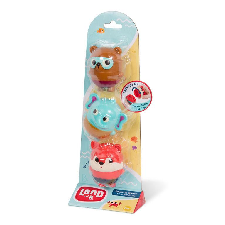 Ensemble de jouets pour le bain, Squish and Splash - Dash, Muffin, Brownie, Land of B.