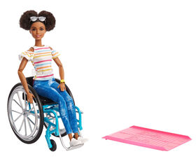Barbie Fashionistas Doll - with Rolling Wheelchair.