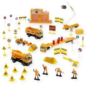 Fast Lane - Ensemble de véhicules de construction en échelle 1:43.