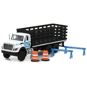 1:64 S.D. Trucks Series 3 - 2017 International WorkStar Platform Stake Truck - New York City Police Department (NYPD) with Public Safety Accessories