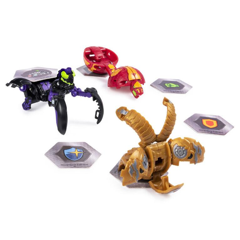 Bakugan Starter Pack 3-Pack, Darkus Mantonoid, Collectible Transforming Creatures