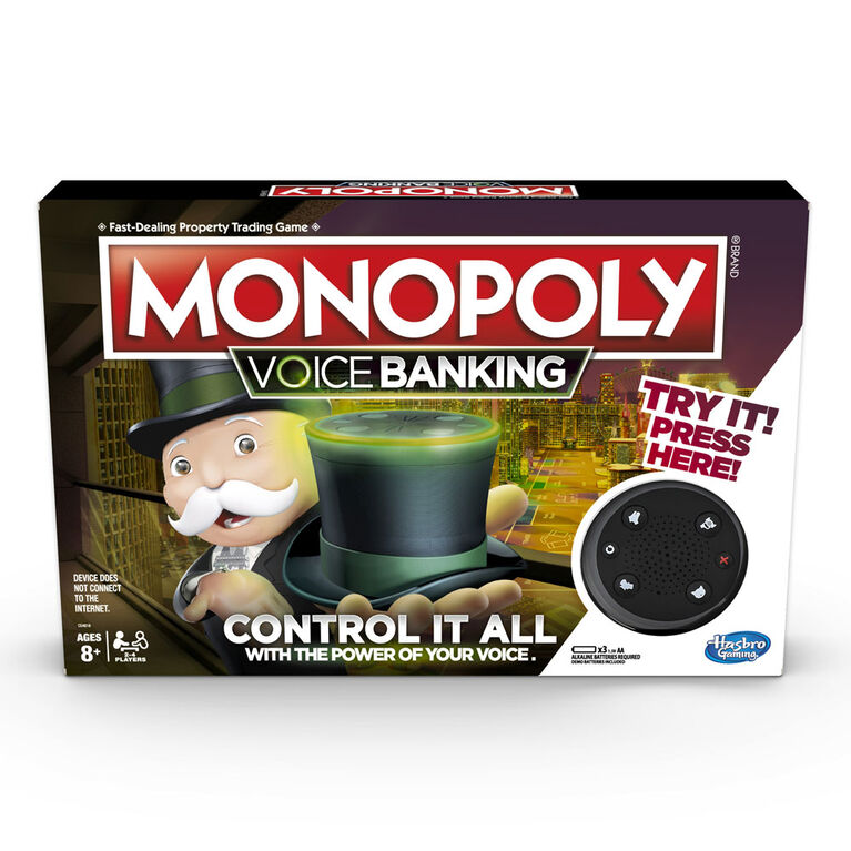 Monopoly Voice Banking Electronic Family Board Game - English Edition