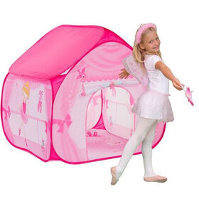 Pop-It-Up Ballerina with Dressing Room Playmat
