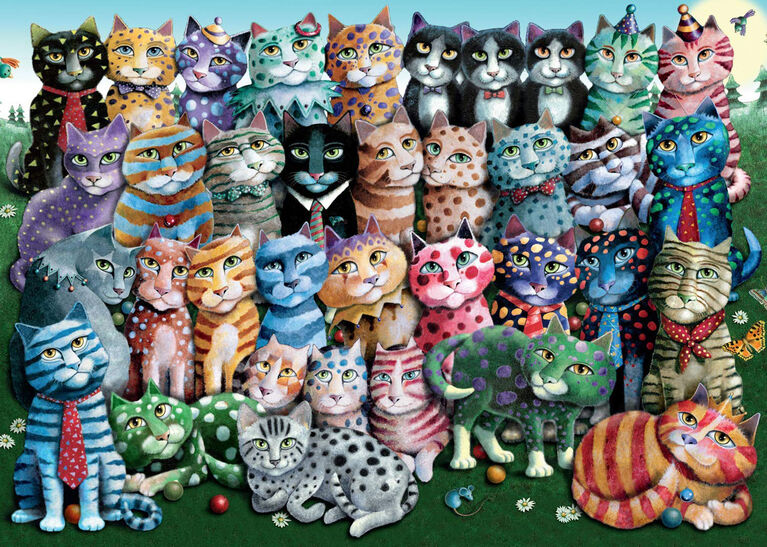 Ravensburger! Cat Family Reunion casse tête (1000pc)