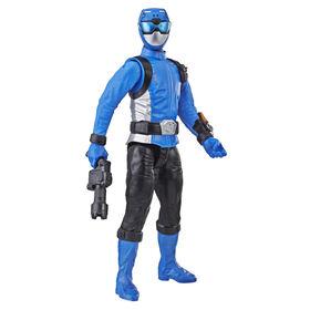 Power Rangers Beast Morphers - Figurine jouet de 30 cm Ranger bleu inspirée de la série télé Power Rangers.