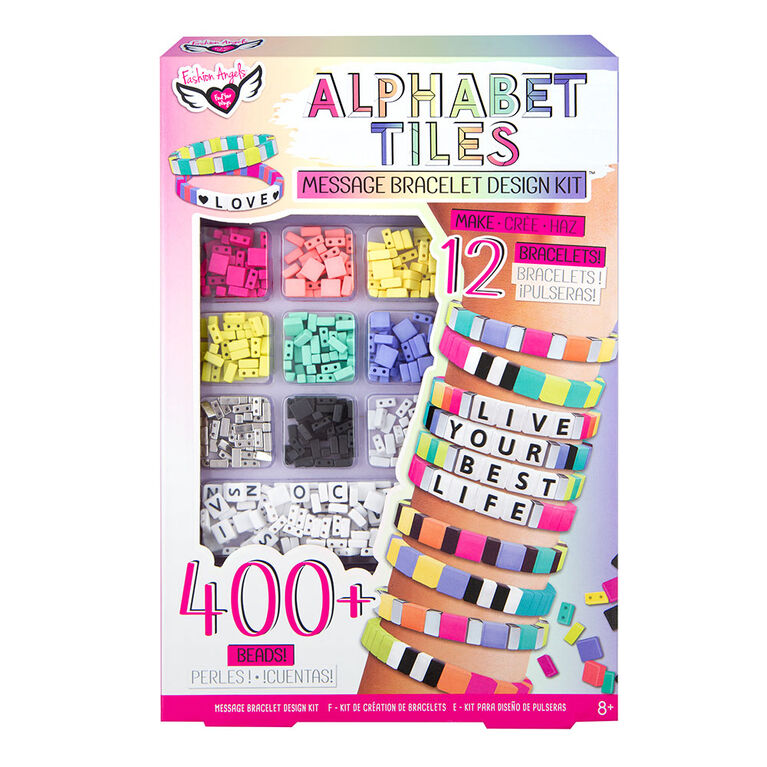 Alphabet Tiles Message Bracelet Kit