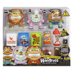 The Hangrees World's Poopiest Video Games Collectible Parody Figures 3-Pack with Slime