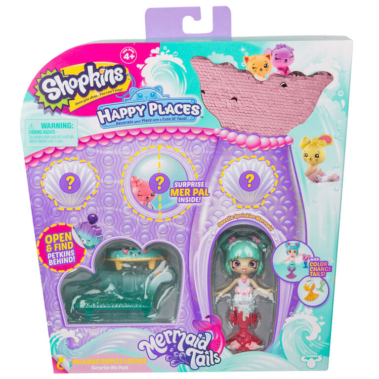 Shopkins Happy Places Mermaid Tales - Relaxing Ripples Lounge Surprise Me Pack