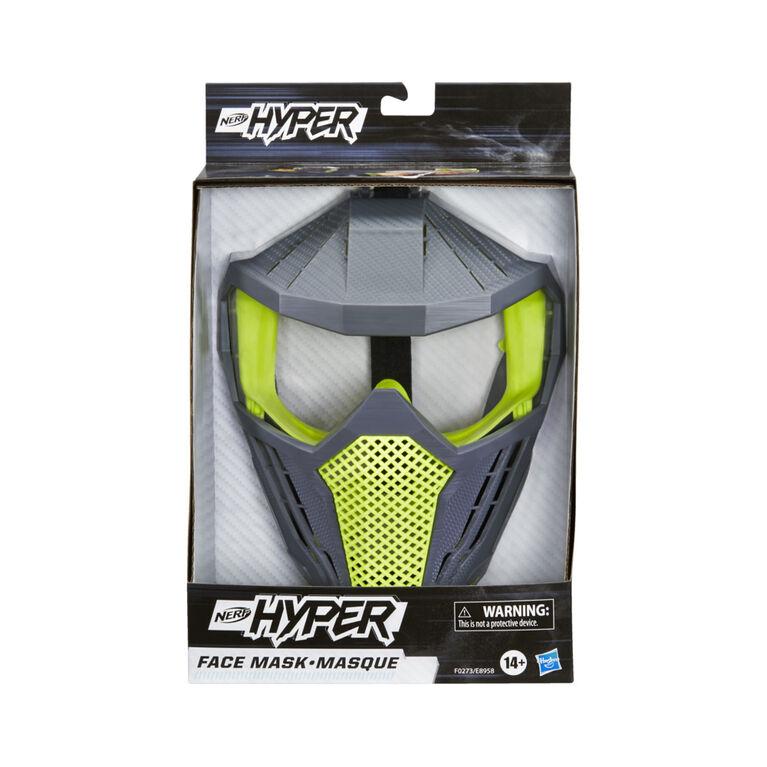 Nerf Hyper, masque ventilé avec sangle ajustable, équipe verte