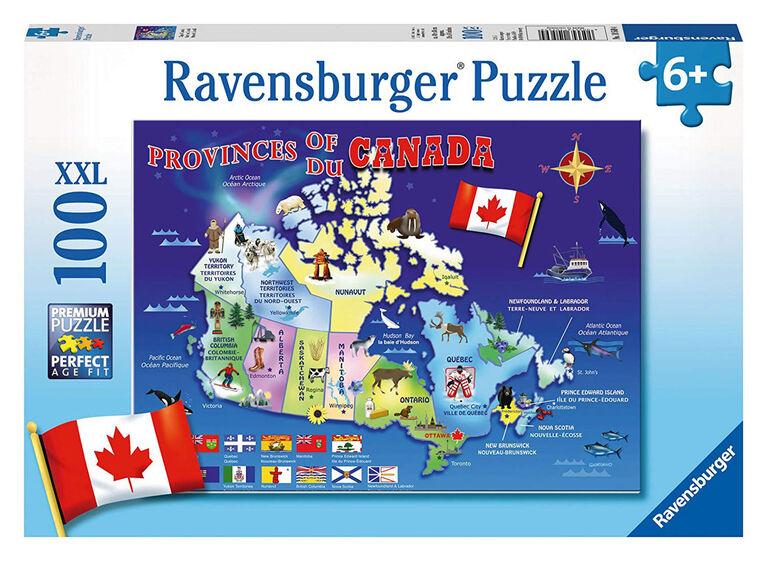 Ravensburger: Casse-tête des provinces du Canada (100 pièces)
