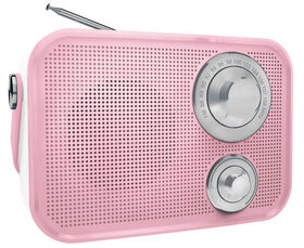 Polaroid Retro Wireless FM Radio And Bluetooth Speaker - Pink