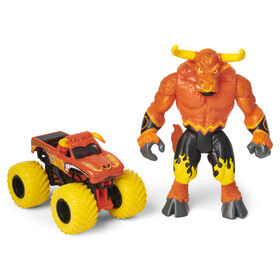 Monster Jam, Official El Toro Loco 1:64 Scale Monster Truck and 5-inch Furioso Creatures Action Figure