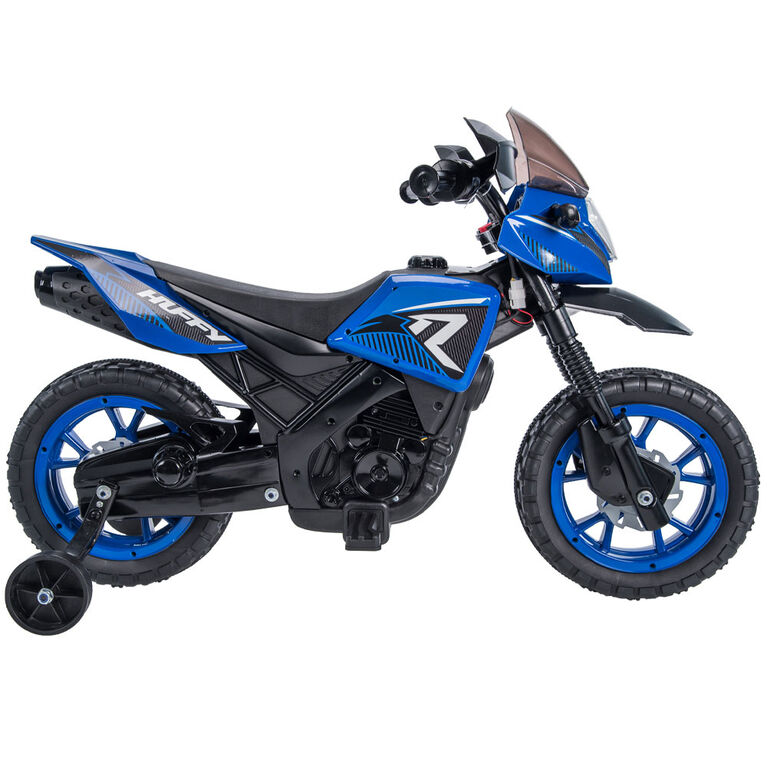 Huffy 6V R1 Kids Battery-Powered Ride-On Motorcycle, Blue