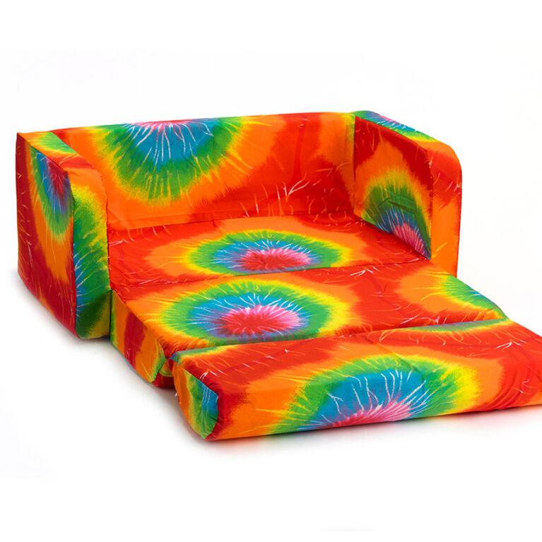 Comfy Kids Flip Sofa - Tie Dye