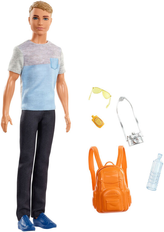 Barbie Travel Ken Doll and Accessories Set
