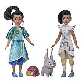 Disney's Raya and The Last Dragon Young Raya and Namaari Fashion Dolls 2-Pack, Fashion Doll Clothes