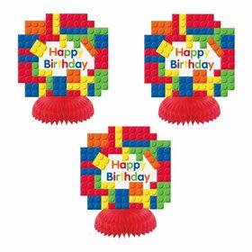 Building Blocks Honeycomb Decor 3 pieces - English Edition
