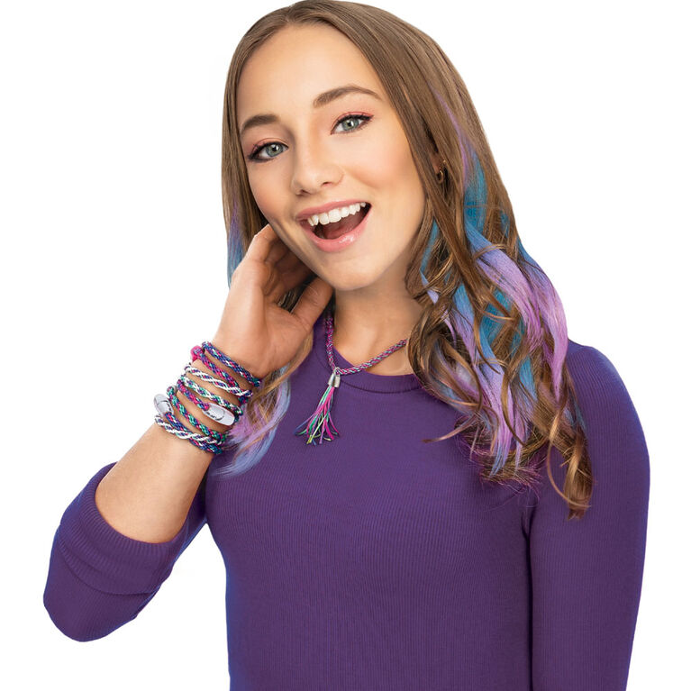 Cool Maker, KumiKreator Mermaid Fashion Pack Refill, Friendship Bracelet and Necklace Activity Kit