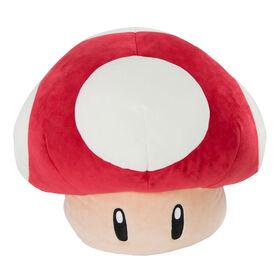 Mario Kart Club Mocchi-Mocchi- Mega Mushroom Plush Stuffed Toy