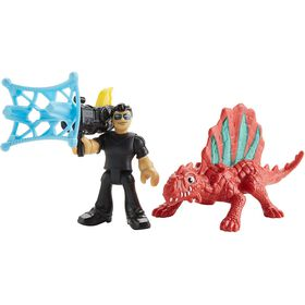 Fisher-Price - Imaginext Jurassic World Dr Malcolm & Dimetrodon - English Edition