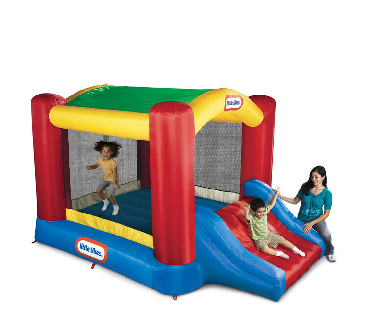 Little Tikes - Parc gonflable Shady Jump 'N Slide - Notre exclusivité