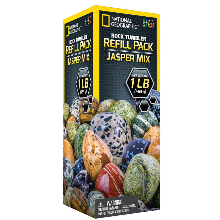 National Geographic Rock Tumbler Refill Pack - Jasper mix - English Edition