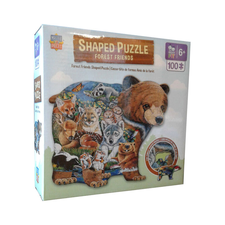 Forest Friends Shaped Puzzle
