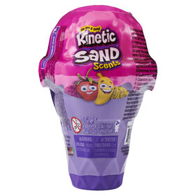 Kinetic Sand Scents, 4oz Ice Cream Cone Container with 2 Colors of All-Natural Scented Kinetic Sand (Styles May Vary)