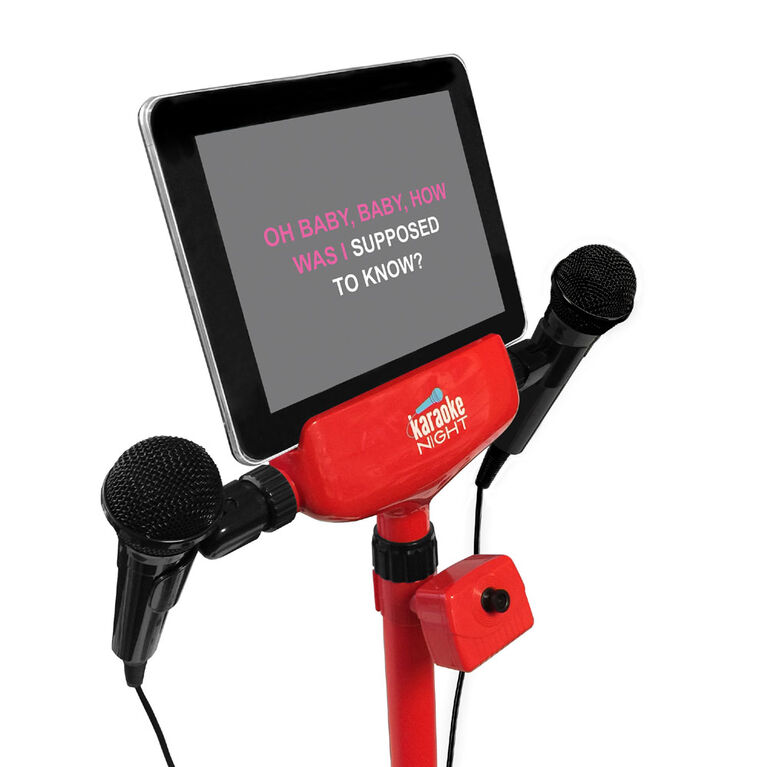 Lights, Camera, Action! Karaoke Machine with Adjustable Camera