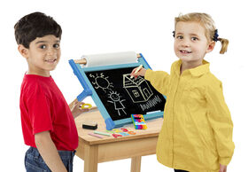 Melissa & Doug - Double-Sided Magnetic Tabletop Easel - styles may vary