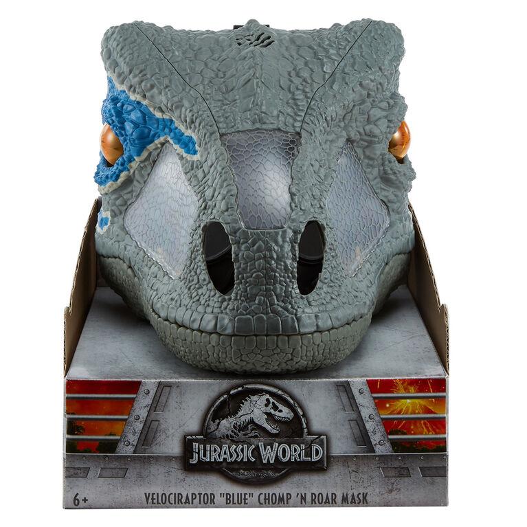Jurassic World Chomp 'N Roar Mask Velociraptor - Blue