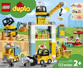 LEGO DUPLO Town La grue et les engins de construction 10933