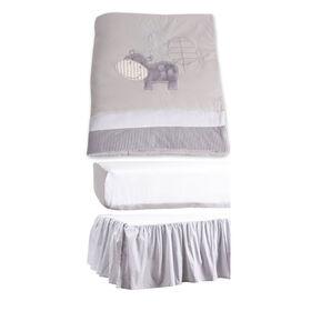 Markethouse Baby 3 Piece Crib Bedding Set- Grey