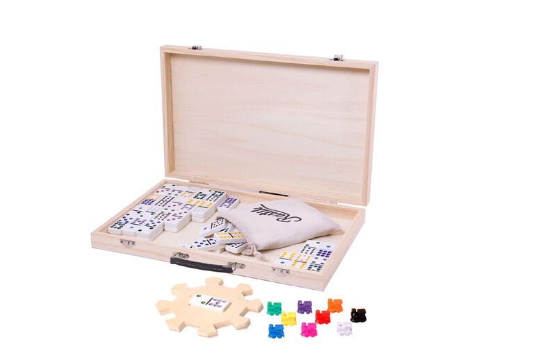 Mexican Train Deluxe Wood Case - French Edition