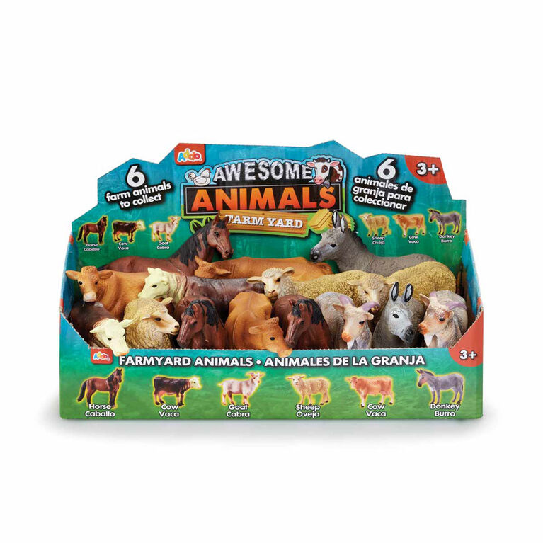 Awesome Animals Farm Figures - R Exclusive - English Edition - Colours and styles may vary
